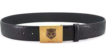 Gucci皮带 正品订制Gucci男士皮带 古奇官网新款复古老虎头皮带