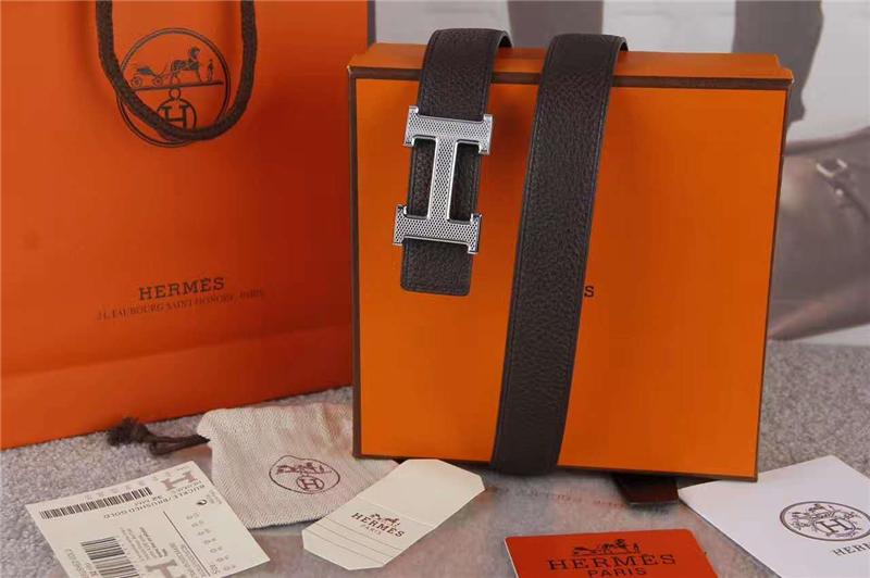 HERMES 爱马仕 原版进口牛皮 双面使用 进口机车车线 不锈钢扣头