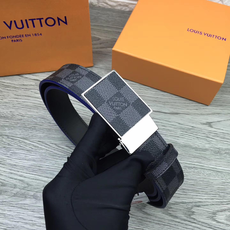 微笑]LOUIS VUITTON 腰帶 新版設計 寬度35毫